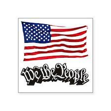 "WTP-Black-Flag-3kx3k-RK2010 Square Sticker 3"" x 3"""