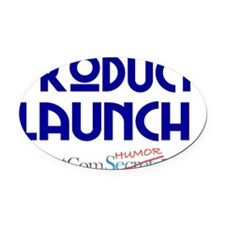 ask-me-product-launch-02 Oval Car Magnet