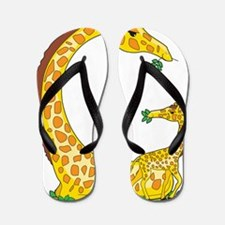 animal alphabet Giraffe Flip Flops