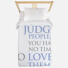 If_you_judge_people_2_dark Twin Duvet