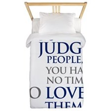 If_you_judge_people_2_light Twin Duvet