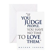 If_you_judge_people_2_light Greeting Card