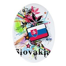flowerSlovakia1 Oval Ornament