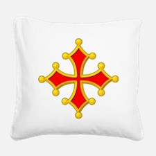 2-cross of toulouse Square Canvas Pillow
