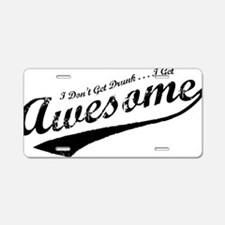 2-awesome Aluminum License Plate