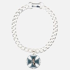 mall-tease-cross-T Charm Bracelet, One Charm