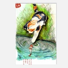 Lucky Cat and Lucky Fish Postcards (Package of 8)