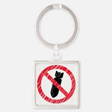 No Bombs Square Keychain