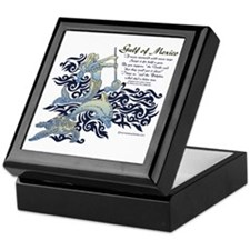 The Turtle and The Dolphin Keepsake Box