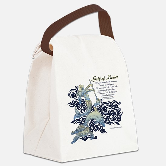The Turtle and The Dolphin Canvas Lunch Bag