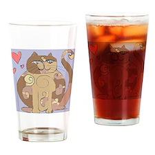 2-spiralcat12-a Drinking Glass