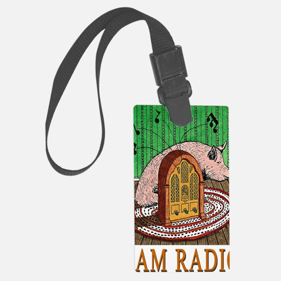 2-HAM RADIO greeting card Luggage Tag