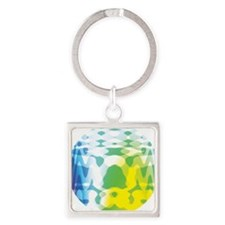 tiedye-01a Square Keychain