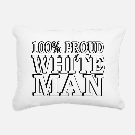 Proud White Man Rectangular Canvas Pillow