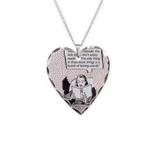 words Necklace Heart Charm