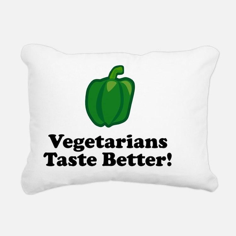 ART Vegetarians Taste Be Rectangular Canvas Pillow