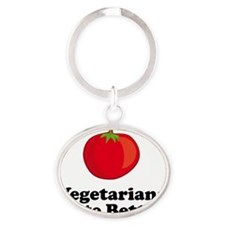 ART Vegetarians Taste Better tomato Oval Keychain