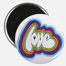 Rainbow Love Acid Magnet