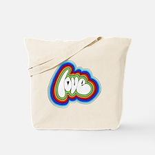 Rainbow Love Acid Tote Bag
