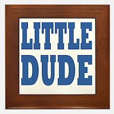 Little DUDE blue 2 Framed Tile
