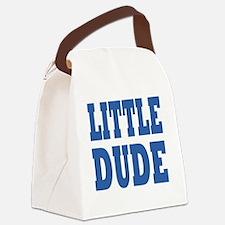 Little DUDE blue 2 Canvas Lunch Bag