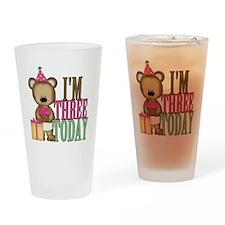 IM THREE TODAY2 Drinking Glass