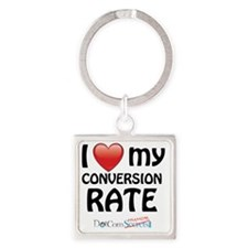 i-heart-conversion-rate-02 Square Keychain