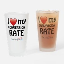 i-heart-conversion-rate-02 Drinking Glass