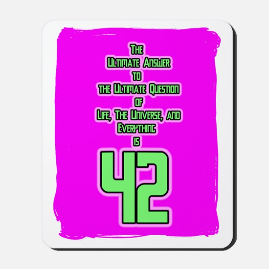 42 on pink cafepress 2freeKopie Mousepad
