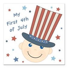 "first4thbaby Square Car Magnet 3"" x 3"""