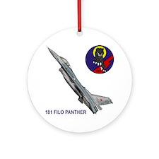 F-16_FILO_PANTHER_SQUADRON Round Ornament