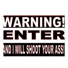 You will be shot.gif Postcards (Package of 8)