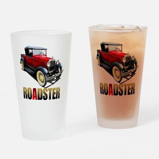 RedAroadster-10 Drinking Glass