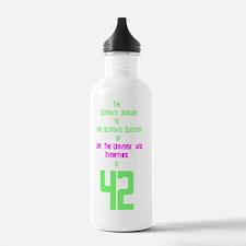 42 on dark cafepress Water Bottle