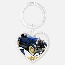 Aroadster-blue-10 Heart Keychain