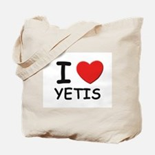 I love yetis Tote Bag