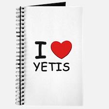 I love yetis Journal