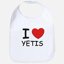 I love yetis Bib