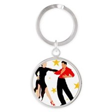 AB13 C-2k red black Round Keychain