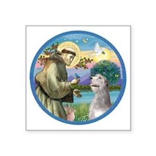 "ORN-St Francis - Irish Wolf Square Sticker 3"" x 3"""