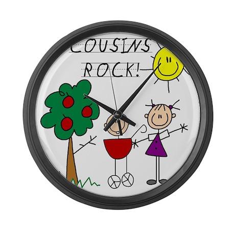 cousinsrock4 Large Wall Clock