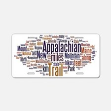 wordle appalachian trail 1 Aluminum License Plate