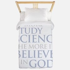 the_more_i_study_science_Dark Twin Duvet