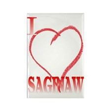 I LOVE SAGINAW. Rectangle Magnet