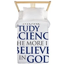 the_more_i_study_science_Light Twin Duvet