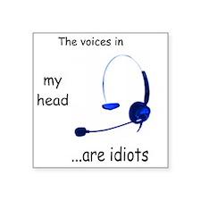 "Voices Square Sticker 3"" x 3"""