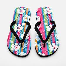2-Image9-flower-stripe Flip Flops