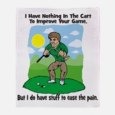 Angry golfer Throw Blanket