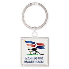 REPUBLICA DOMINICANA MAN 0 Square Keychain