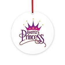BeatrizPrincessArt Round Ornament